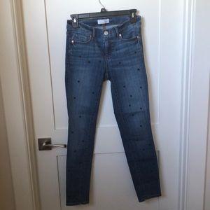 LOFT Skinny Polka Dot Jeans